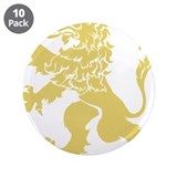 Gold Rampant Lion 3.5&quot; Button (10 pack)