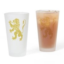 Gold Rampant Lion Drinking Glass