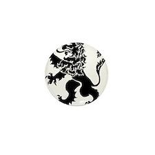 Black Lion Rampant Mini Button