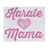 Karate Mama Throw Blanket