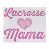 Lacrosse Mama Throw Blanket