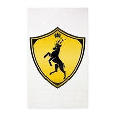 Royal stag sigil 3'x5' Area Rug
