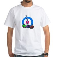 """Curling broom & rocks"" Shirt"