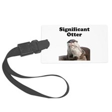 Significant Otter Black.png Luggage Tag