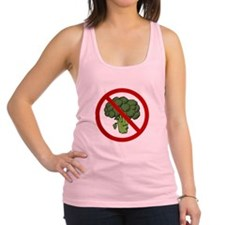 No Broccoli Red Only.png Racerback Tank Top