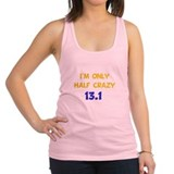 Half Crazy Yellow.png Racerback Tank Top