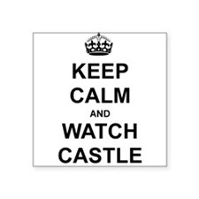 Keep Calm and Watch Castle Sticker