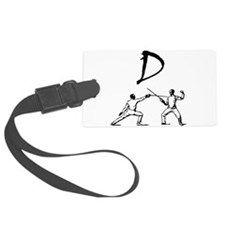 D Fencing Black.png Luggage Tag