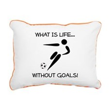 Soccer Goals Black.png Rectangular Canvas Pillow