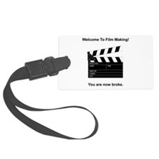 Film Making Broke Black.png Luggage Tag