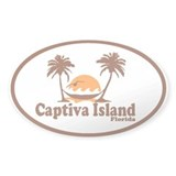 Captiva Island - Palm Trees Design. Decal