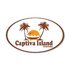 Captiva Island - Palm Trees Design. 20x12 Oval Wal