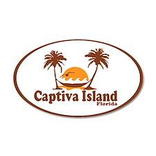 Captiva Island - Palm Trees Design. Wall Decal