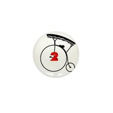 Number Two Mini Button (10 pack)
