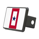 Blue Star Flag Rectangular Hitch Cover