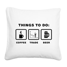 Financial Trader Square Canvas Pillow