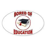 BORED Sticker (Oval 10 pk)