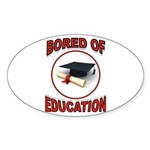 BORED Sticker (Oval)