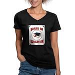 BORED Women's V-Neck Dark T-Shirt