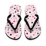 Valentine Hearts Flair Flip Flops