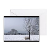 Waveny Bench view Greeting Cards (Pk of 20)