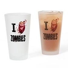 Cute Zombie valentine Drinking Glass