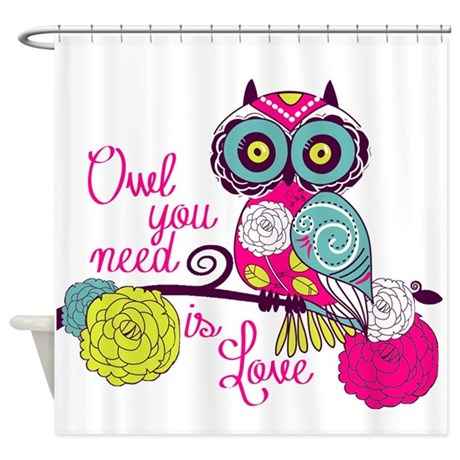owl you need is love shower curtain by seasonschange1