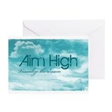 Aim High. Visualize The Dream Greeting Card