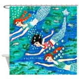 Mermaid Race Shower Curtain