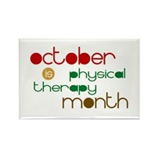 Physical Therapy Month Rectangle Magnet