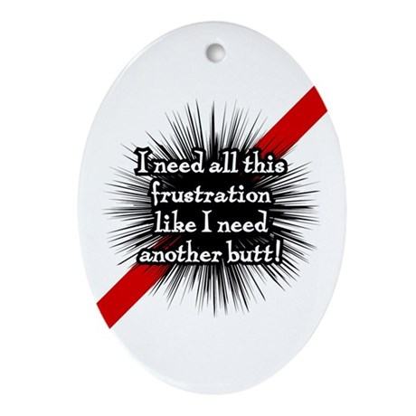 Banded Frustration Oval Ornament