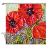 Unique Poppies fine Shower Curtain