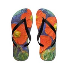 Cute Oil painting Flip Flops