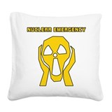 Nuclear Emergency Square Canvas Pillow