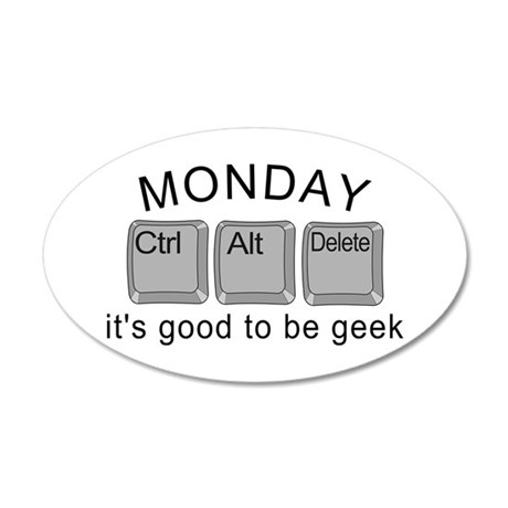 Monday Geek Computer Keys 20x12 Oval Wall Decal
