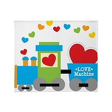 Valentine Train Throw Blanket
