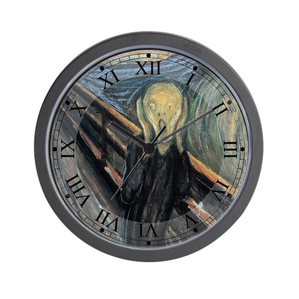 the movie the scream clock $ 24 99 qty availability product number 030