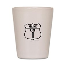 US Route 1 - Maine - Shot Glass