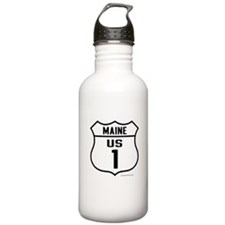 US Route 1 - Maine - Water Bottle