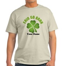 Personalized Erin Go Brah Clover T-Shirt