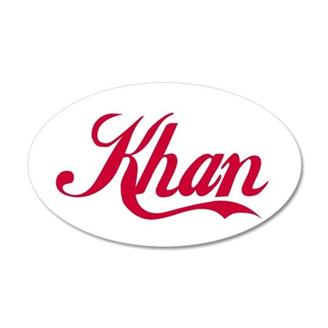 Khan.png 35x21 Oval Wall Decal