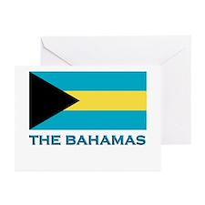 The Bahamas Flag Gear Greeting Cards (Pk of 10