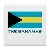 The Bahamas Flag Gear Tile Coaster