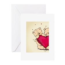 teddybear love Greeting Cards (Pk of 10)