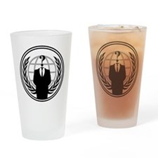 Anonymous Logo Drinking Glass