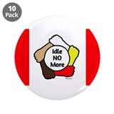 "Idle No More - Five Hands - Canadian Flag 3.5"" But"