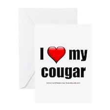 """I Love My Cougar"" Greeting Card"
