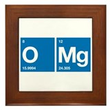 Oxygen Magnesium Periodic Table OMG Framed Tile