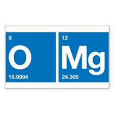 Oxygen Magnesium Periodic Table OMG Decal