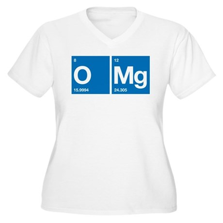 Oxygen Magnesium Periodic Table OMG Women's Plus S